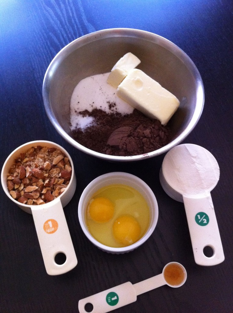 Mise en Place for Cocoa Brownies